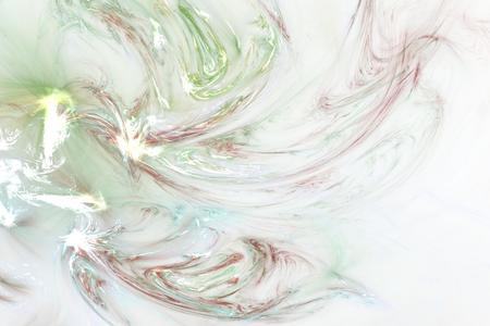 fractals: abstract fractal background of colorful waves on light background Stock Photo