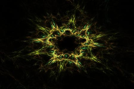 fractals: abstract fractal background of colorful waves on dark background