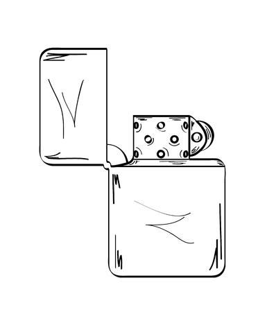 sketch of the lighter on white background, vector, isolated Vector