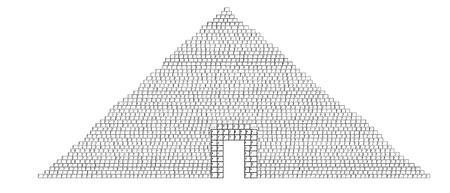 cheops: Sketch of the ancient pyramid on white background, isolated.