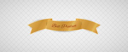 best product: gold best product label on gray graph paper