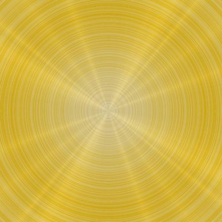 Rounded brushed metal background with yellow or gold color