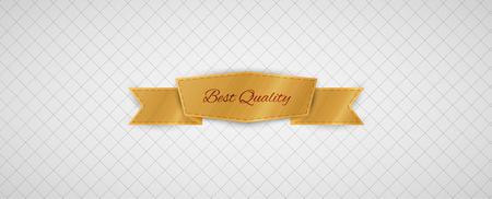 gold best quality label on gray graph paper Vector