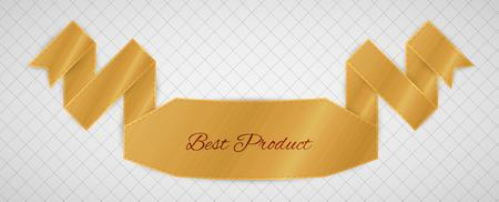 gold best product label on gray graph paper Vector