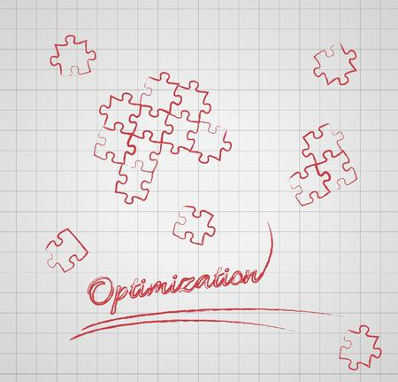 audits: optimization with puzzle pieces on gray graph paper