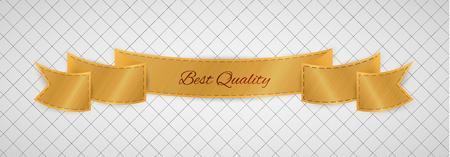 hoja cuadriculada: etiqueta de mejor calidad del oro en el papel cuadriculado gris Vectores