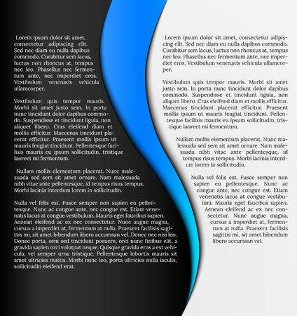 black and white infographic template with blue element Vector