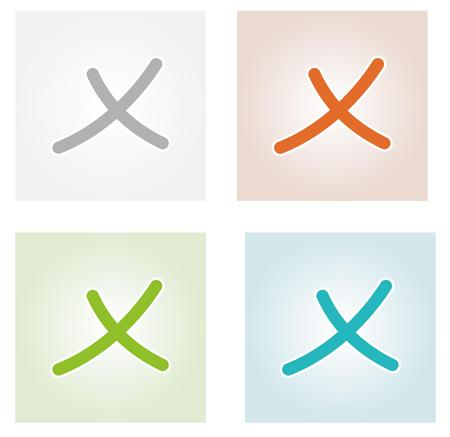 designate: collection of the cross patterns with different colors, isolated