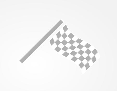 racing checkered flag crossed: waving checkered racing flag on gray gradient background Stock Photo