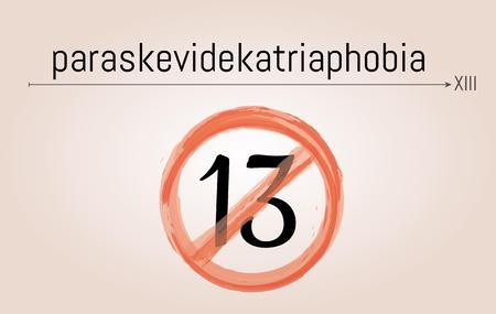 fear of friday the 13th illustration - paraskevidekatriaphobia