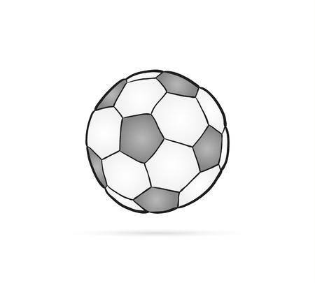 football ball and shadow on white background Vector