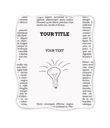 advertisement: St�ck Zeitung mit leeren Platz f�r Ihren Text oder Werbung Illustration