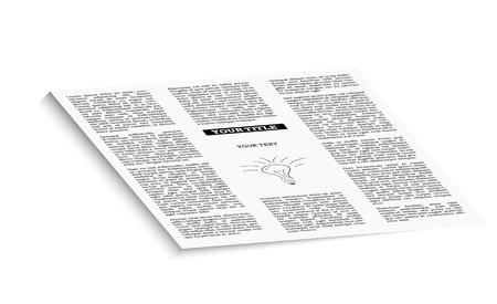 unreadable: newspaper with empty place for your text or advertisement Illustration