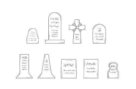 tombes: la collecte des tombes sur fond blanc, isol�, croquis