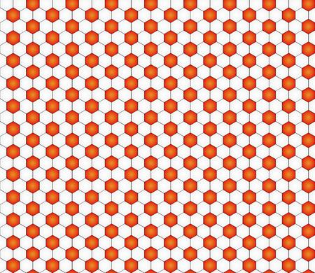 seamless pattern with black and white hexagons like football ball pattern Vector