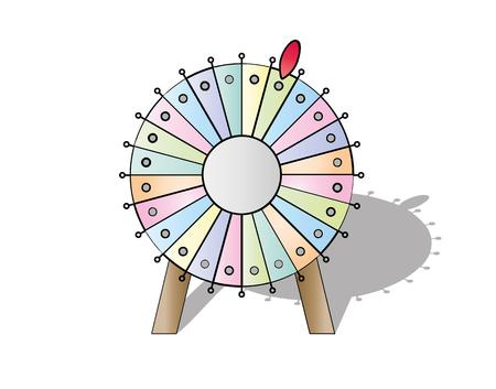 wheel of fortune: colorful wheel of fortune on white background, vector, isolated Illustration