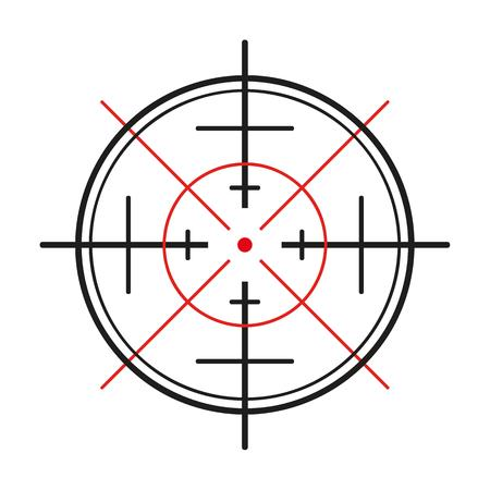 gun sight: crosshair of the gun on white background
