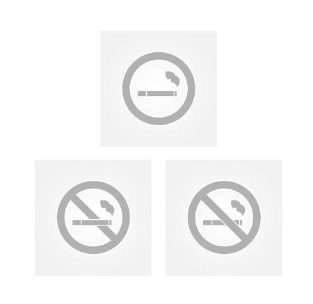 strikethrough: signs with cigarette and strikethrough cigarette on gray gradient background