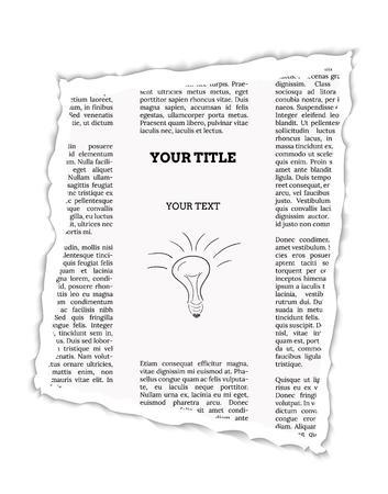 stuk van de krant met lege plaats voor uw tekst of advertentie Stock Illustratie