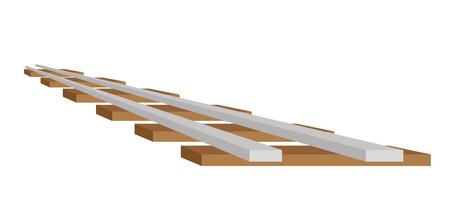 vector illustration of the train track, isolated Illustration