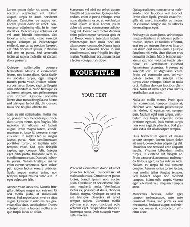 newspaper with empty place for your text or advertisement Illustration