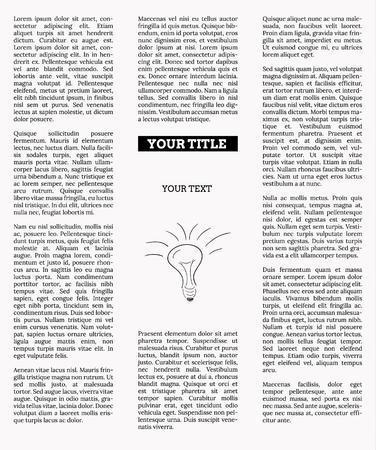 advertisement: Zeitung mit leeren Platz f�r Ihren Text oder Werbung Illustration