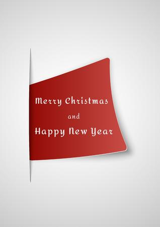 eps vector art: merry christmas card inserted into gray gradient paper background