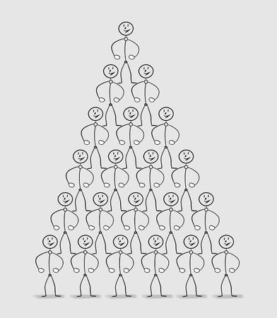 human pyramid: pirámide humana, muchas personas fuertes de pie sobre los hombros de los demás