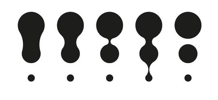 interjection: different black exclamation marks on white background