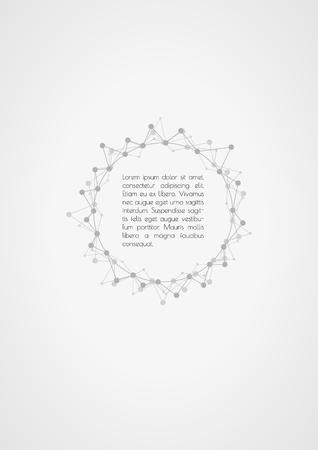 star path: abstract zigzag lines with sample text in center Illustration