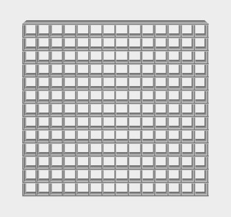 prison facility: many gray jail bars on gray background