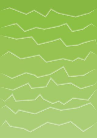 rupture: abstract green background with many horizontal cracks Illustration