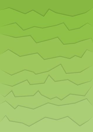 rift: abstract green background with many horizontal cracks Illustration