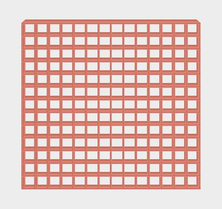 jail: many red jail bars on gray background