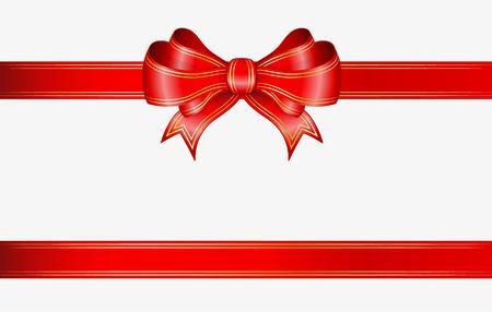 Rotem Farbband und Bogen mit eleganten Goldlinien Standard-Bild - 46495154