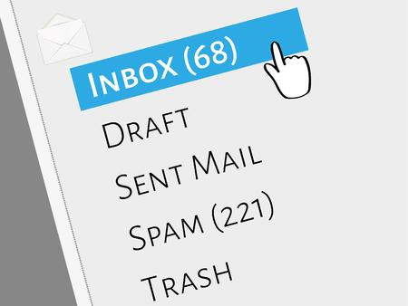 mail box menu with selected inbox folder