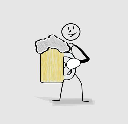 pint: man holding pint of beer in his hand