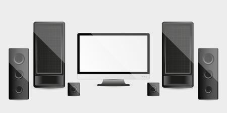 home cinema: modern multimedia devices - home cinema system