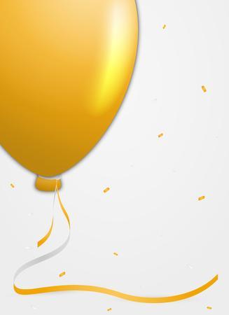 birthday invitation: invitation card for birthday celebration with balloon