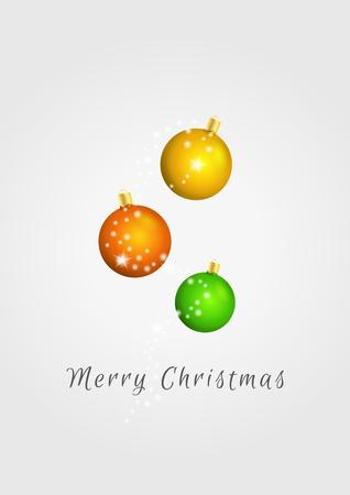 shinning: christmas balls and shinning dots on gray gradient background