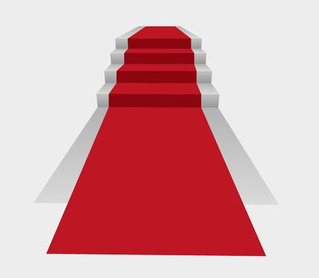 red and white: red carpet and stairs to winning podium Illustration