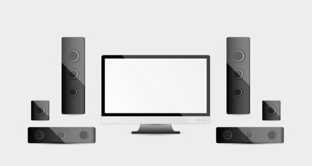 multimedia: modern multimedia devices - home cinema system