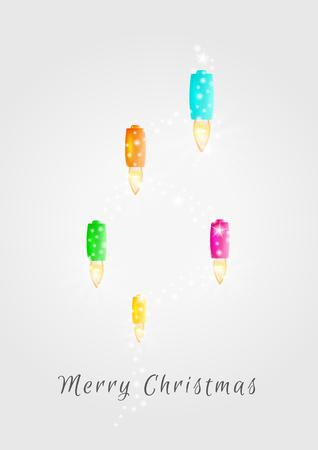 shinning: christmas lights and shinning dots on gray gradient background Illustration