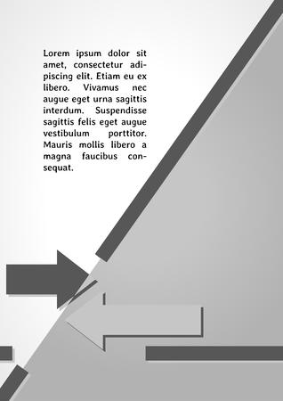 two arrows: two arrows symbol dark infographics on gray gradient background Illustration
