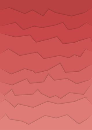 rift: abstract red background with many horizontal cracks Illustration