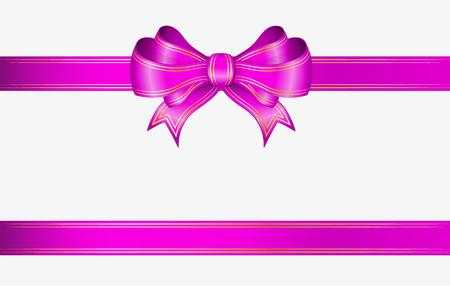 magenta: pink ribbon and elegant bow with gold lines
