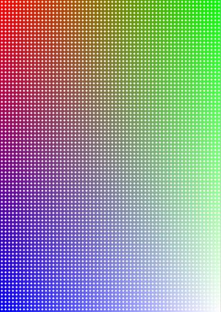 ambience: abstract color background with many object with different solid colors imitating color gradient Illustration