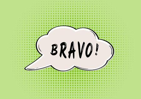 bravo: BRAVO speak bubble in retro comic style