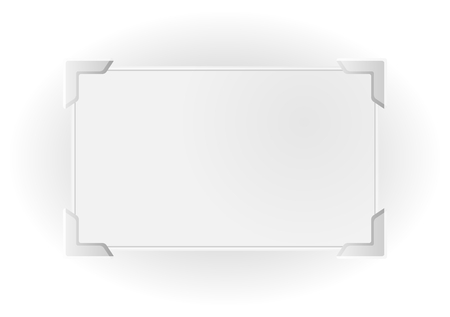 silver picture frame: Silver frame with shadow for your text, photo or picture with significant corners.