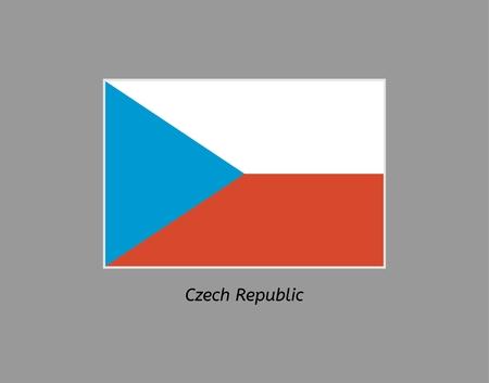 czech republic flag: Czech republic flag. Illustration of the flag on gray backgound. Illustration contains text: czech republic